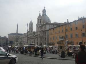Piazza Navonna: The square that used to accommodate horse chariot races.