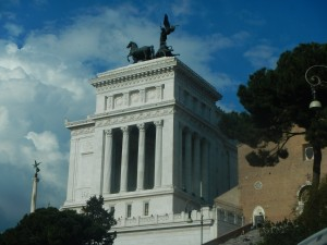 A monument dedicated to Vittorio Emanuel II containing a memorial to all the unknown soldiers who died during WW One